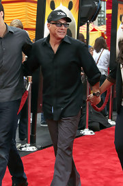 Jean-Claude Van Damme was smartly dressed in a black button-down and gray slacks at the 'Kung Fu Panda 2' premiere.