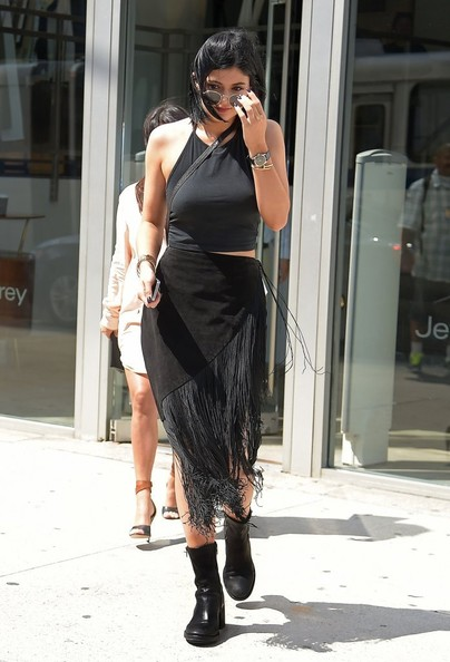 Kylie Jenner Fringed Skirt