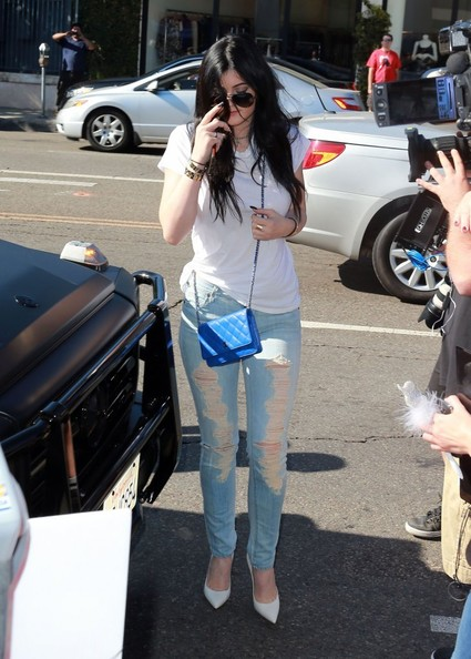 Kylie Jenner Ripped Jeans