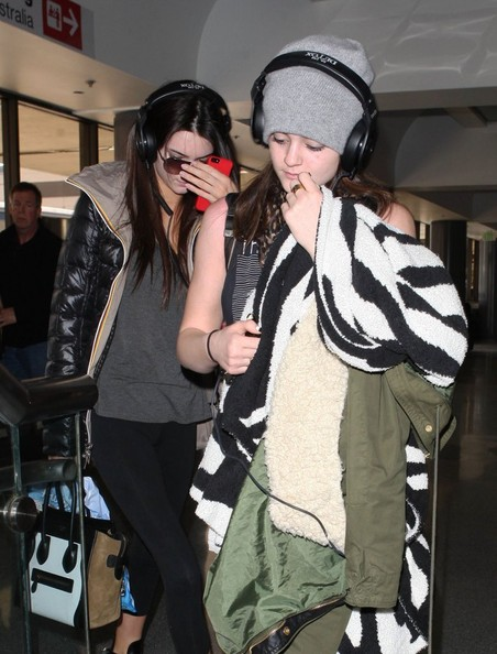 Kendall and Kylie Jenner at the Airport in LA