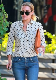 Lauren Conrad was spotted out in West Hollywood looking chic in a pair of Karen Walker tortoiseshell cateye sunnies.