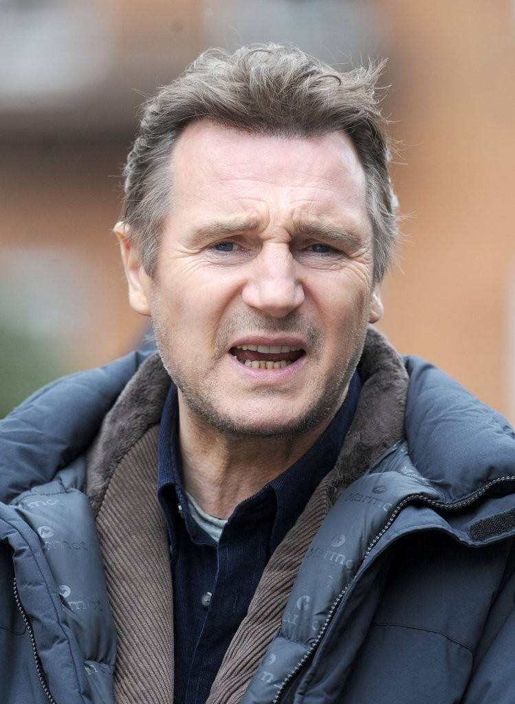 More Pics of Liam Neeson Fitted Jacket