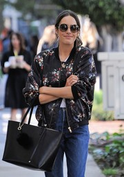 Louise Roe was hippie-chic with her oversized round sunglasses while out and about in LA.