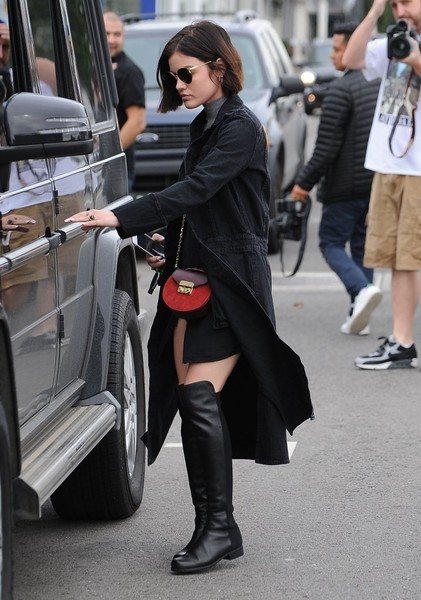 More Pics of Lucy Hale Chain Strap Bag (1 of 22) - Lucy Hale Lookbook - StyleBistro []