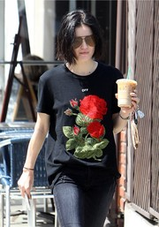 Lucy Hale accessorized with a pair of Quay aviators while out and about in Studio City.
