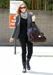 A pair of black skinny jeans was super-slimming and super-cool on Marcia Cross.