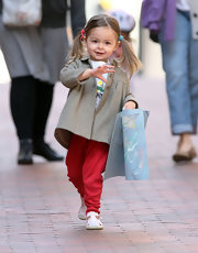 What a cutie! Tabitha Broderick's pigtails showed off her adorable face after an art class in NYC.