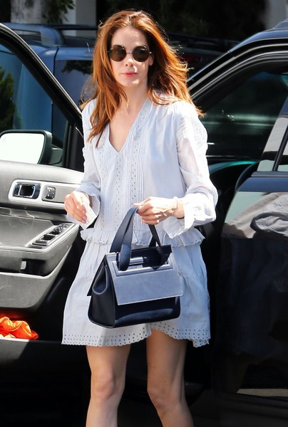 Michelle Monaghan Round Sunglasses