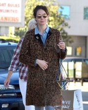 Michelle Monaghan enjoyed a day out in West Hollywood wearing a pair of round gold shades.