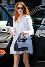 Michelle Monaghan ran errands in West Hollywood wearing a cool pair of round sunnies.