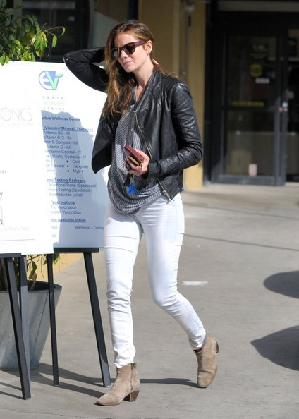 Michelle Monaghan Leather Jacket