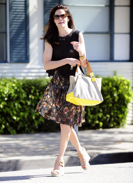 Michelle Monaghan Leather Tote