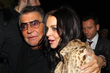 Roberto Cavalli Lindsay Lohan Milan Fashion Week - Vogue Event