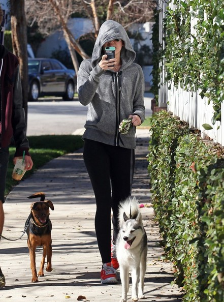 Miley Cyrus Walks Her Dog In Studio City