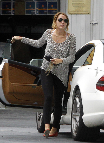 Miley Cyrus Scoopneck Sweater