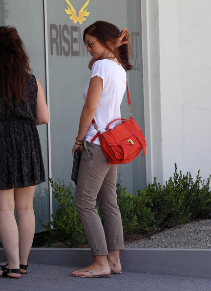 Minka Kelly Leather Messenger Bag