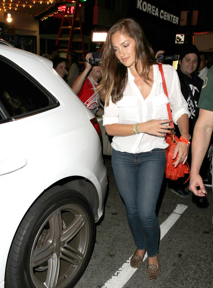 Minka Kelly Button Down Shirt