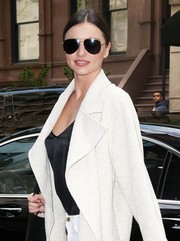 Miranda Kerr was spotted out in New York City looking cool in her Oliver Peoples aviators.