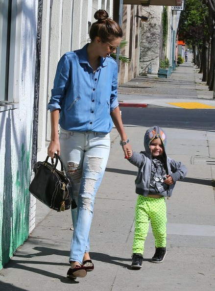 More Pics of Miranda Kerr Ripped Jeans (1 of 24) - Jeans Lookbook - StyleBistro