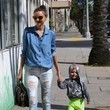 Miranda Kerr's Zippered Chambray Button-Down