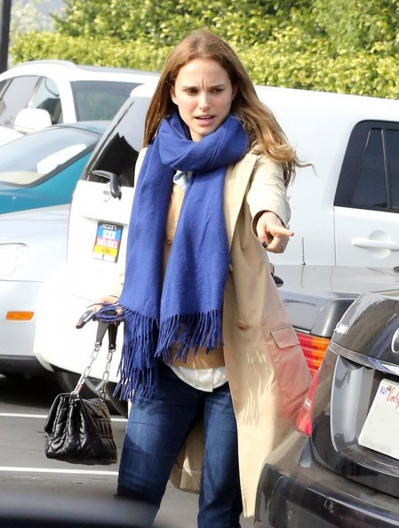 Natalie Portman Spends The Day With Friends