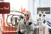 Nicky Hilton Faux Fur Coat