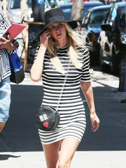 Nicky Hilton accessorized with a black sun hat while strolling in New York City.