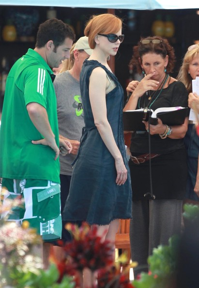 Stars On The Set Of 'Just Go With It' In Maui