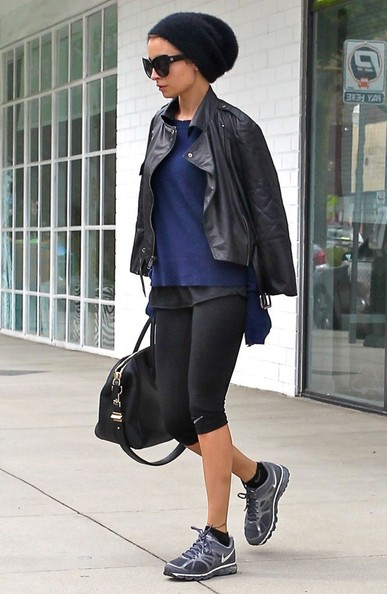 More Pics of Nicole Richie Leather Jacket (1 of 7) - Nicole Richie Lookbook - StyleBistro