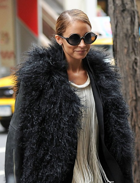 More Pics of Nicole Richie Fur Coat (1 of 8) - Nicole Richie Lookbook - StyleBistro