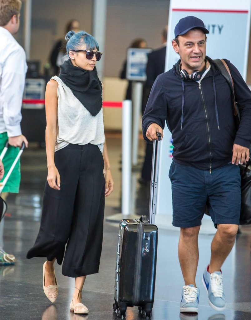 Nicole Richie Touches Down At JFK