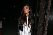 Nicole Scherzinger Leather Pants