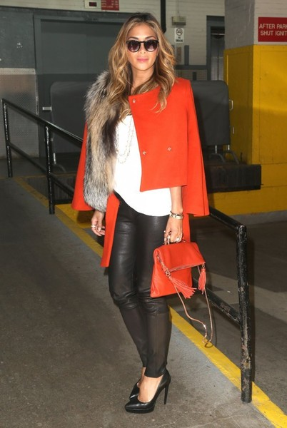 Nicole Scherzinger Tasseled Shoulder Bag