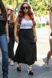 Nicole Polizzi celebrated her bachelorette party wearing a white tank top printed with the word 'Wifey.'