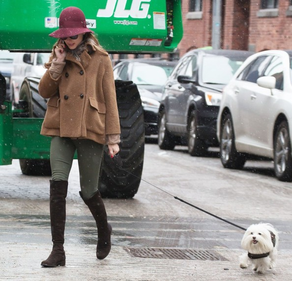 Olivia Palermo Walks Her Dog