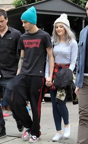 One Direction's Zayn Malik was spotted in a pair of classic Adidas '3 Stripe' pants.