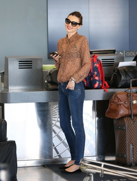 More Pics of Miranda Kerr Button Down Shirt (3 of 17) - Miranda Kerr Lookbook - StyleBistro