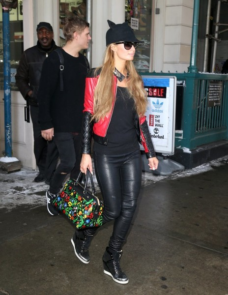 Paris Hilton Leather Pants