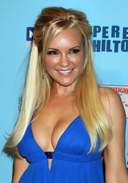Bridget Marquart styled her blond locks into a half up hairstyle at Perez Hilton's Blue Ball birthday celebration.