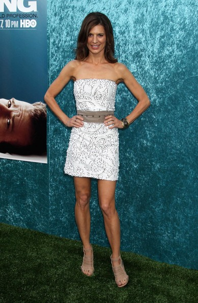 Perrey Reeves Strapless Dress []