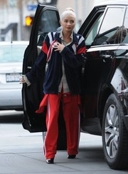 Pia Mia was spotted gassing up in West Hollywood wearing a loose track jacket.