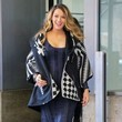Blake Lively's Poncho and Sweater Dress