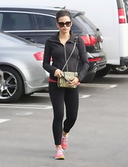 Jenna Dewan-Tatum wore classic yoga leggings to an afternoon yoga class at a Hollywood gym.