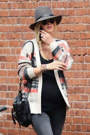 Nicky Hilton was almost unrecognizable wearing this gray sun hat while out and about in New York City.