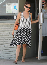 Rachel Bilson kept it laid-back yet chic all the way down to her Rebecca Minkoff flat sandals.