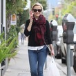 Reese Witherspoon's Plaid Scarf and Leopard Flats
