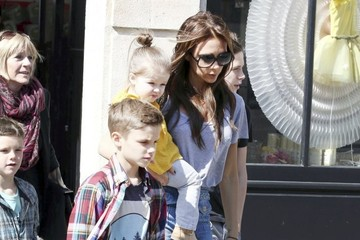 Romeo Beckham Harper Beckham Baby Harper Steals the Show on Family Outing in Paris