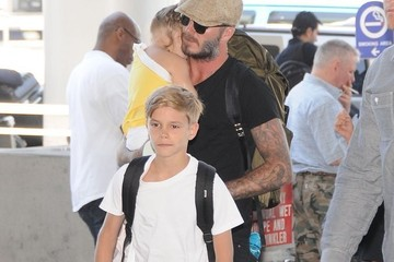 Romeo Beckham Harper Beckham The Beckham Family Departing On A Flight At LAX