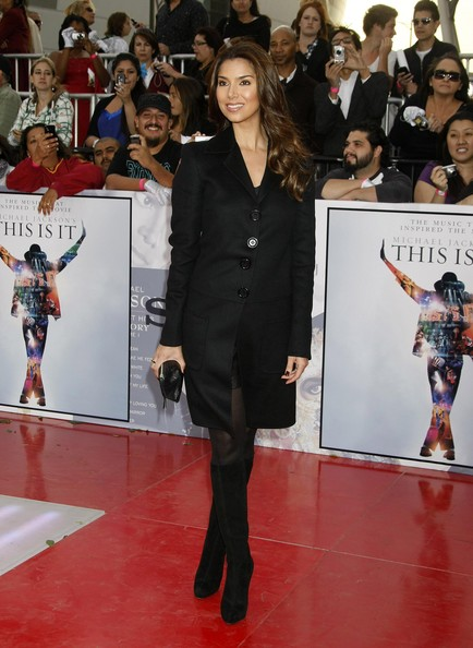 Roselyn Sanchez Knee High Boots