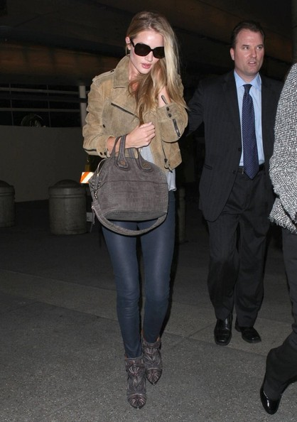 More Pics of Rosie Huntington-Whiteley Leather Jacket (3 of 8) - Rosie Huntington-Whiteley Lookbook - StyleBistro